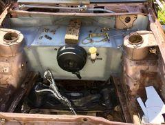 brake booster mounted