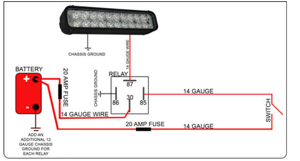 Wiring A Led Light Bar With A Mitsuba Rc5008 Relay