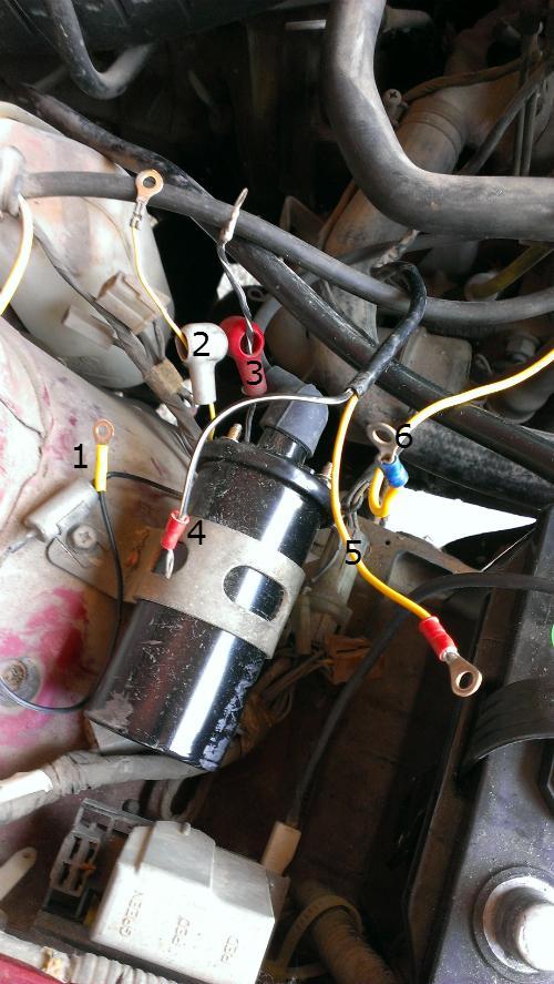 39 84 brat ignition coil wiring old gen 80 39 s gl dl xt. Black Bedroom Furniture Sets. Home Design Ideas