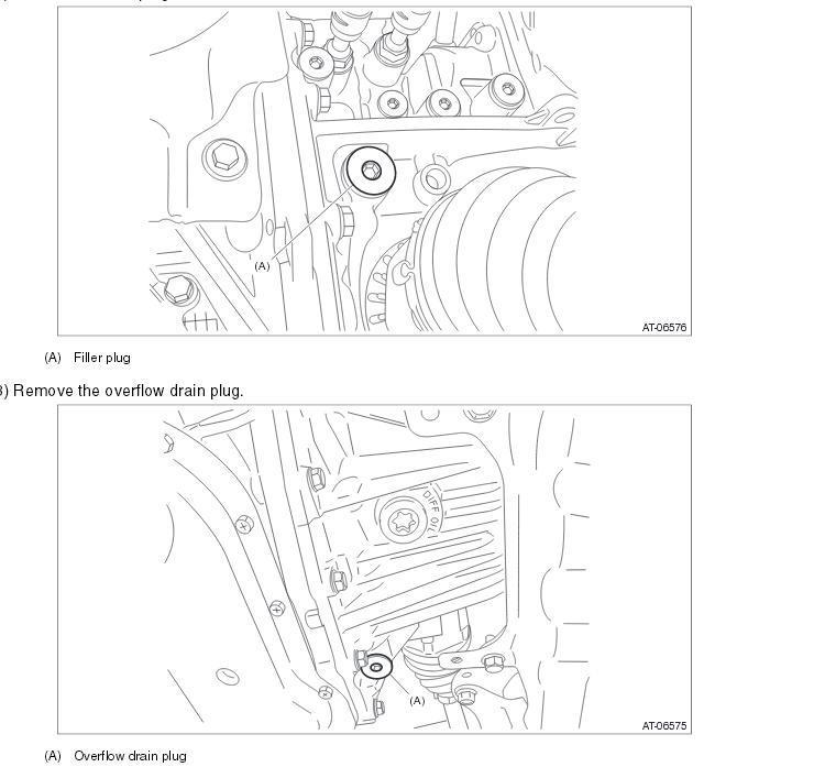 Location of front diff oil fill? - Crosstrek