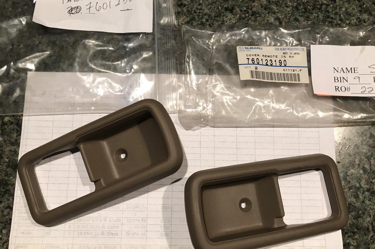 Interior Door Handle Bezels Still Available Old Gen 80 S Gl Dl Xt Loyales Ultimate Subaru Message Board